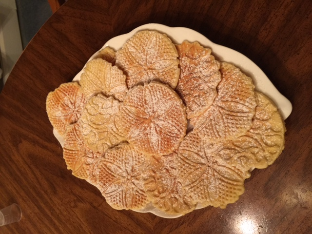 Powdered Sugar Vanilla Pizzelles