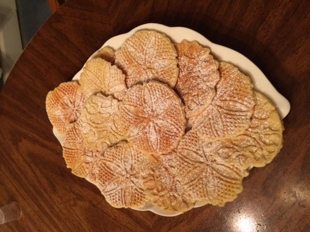 Powdered Sugar Vanilla Pizzelles